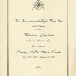 Program Free Masons meeting 350802