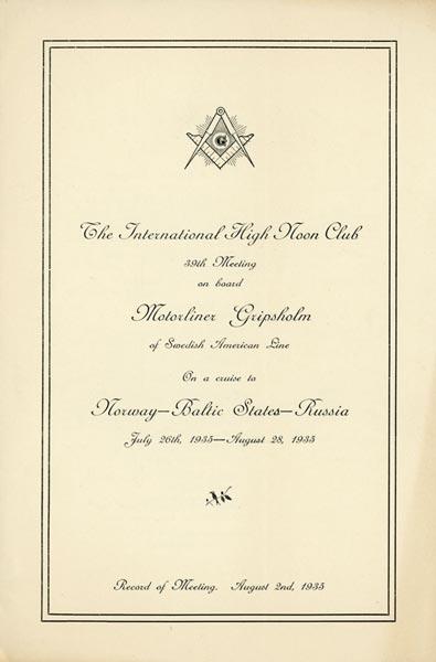 Program Free Masons meeting 350802