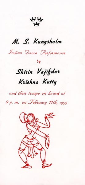 Program Indian dance performance 550211