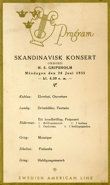 Program Skandinavisk konsert 350624
