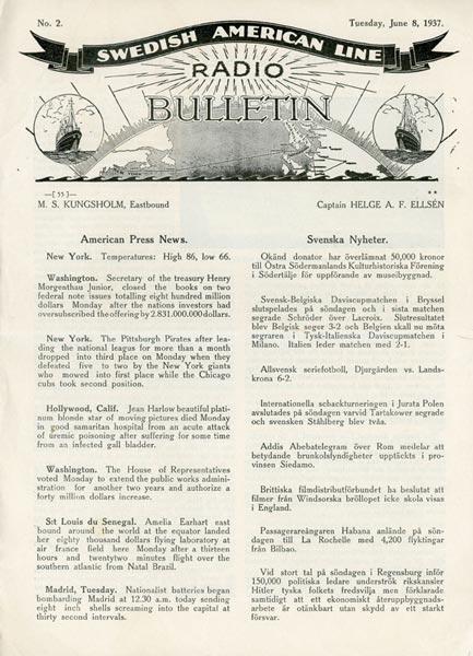 Radio Bulletin Nr2 1937