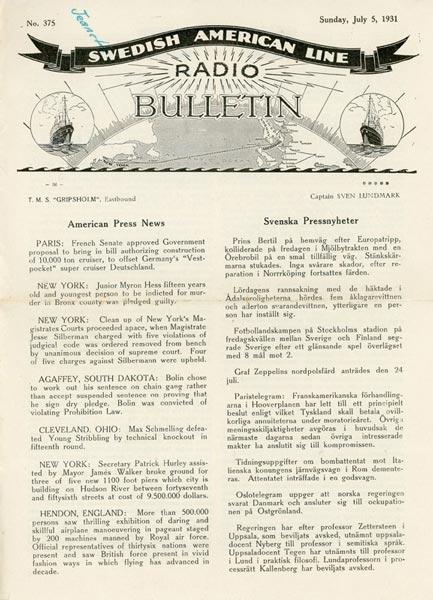 Radio Bulletin Nr375 1931