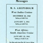 Suggestions for forwarding messages 1960-1961