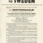 Passenger service to Sweden (no date)