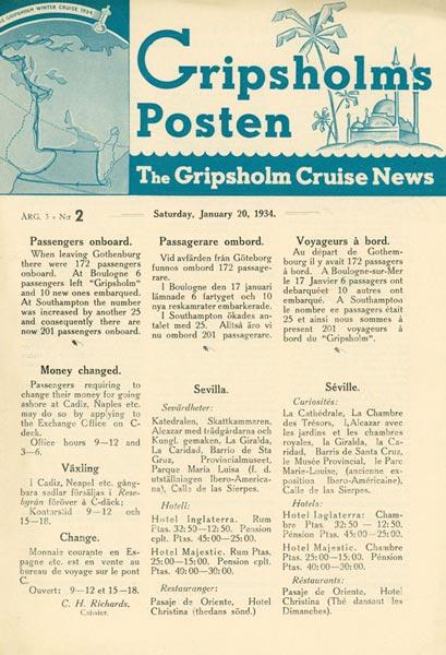 Gripsholms Posten annual 3 nr 2 1934