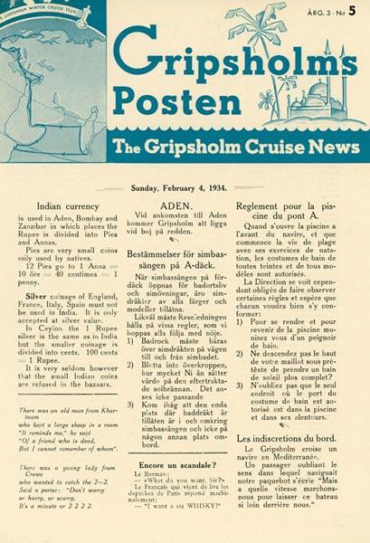Gripsholms Posten annual 3 nr 5 1934