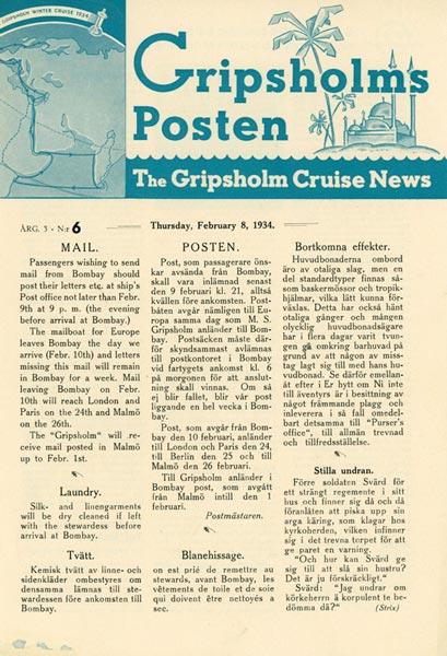 Gripsholms Posten annual 3 nr 6 1934