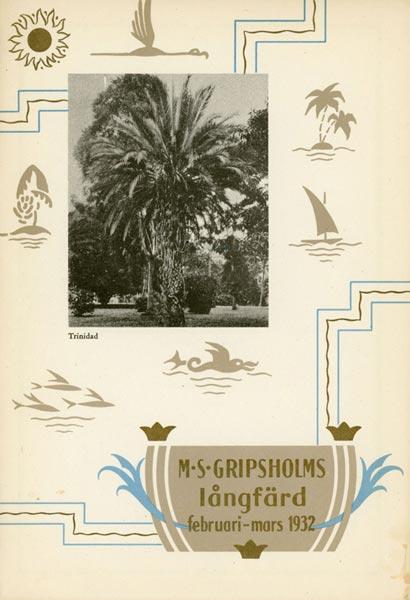 Menu Gripsholm 1932