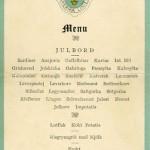 Menu Julbord 1928
