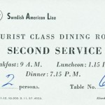 Placing card 1957 Second service