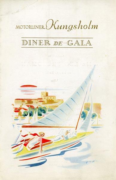 Meny middag 320102 Diner de gala  Mr Leo Freedman