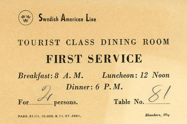 Table reservation 1958 1