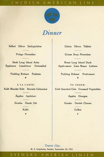 Meny middag 530920