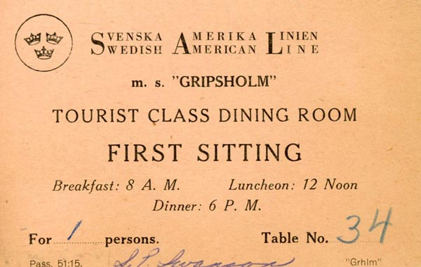 Placing card Gripsholm (2)