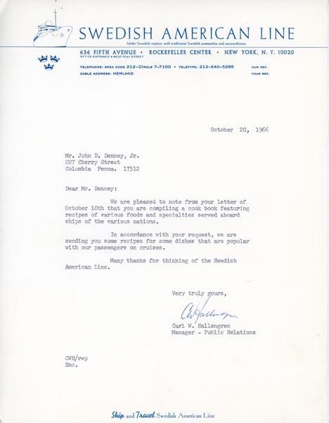 Recipe Request 1966