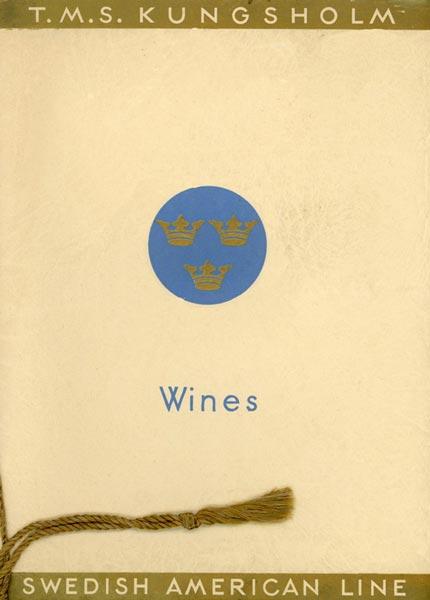 Wine list Kungsholm 1930's