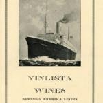 Wine list Stockholm 1928