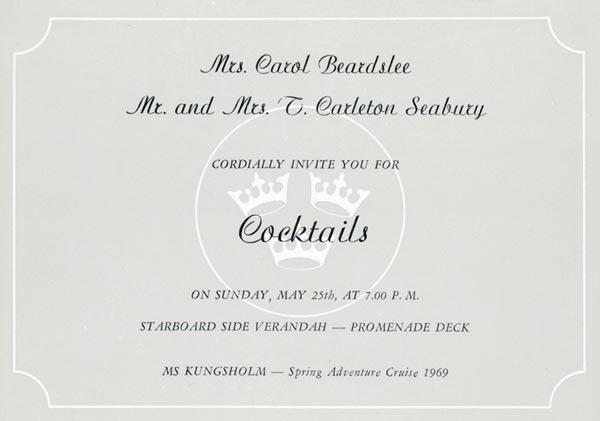 Invitation cocktail 1969 12