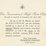 Invitation Free Masons meeting 290222