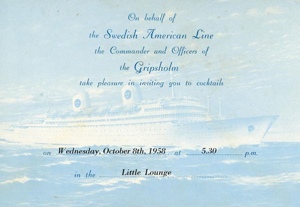 Invitation card Gripsholm 581008