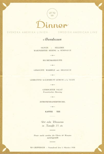 Meny middag 581004 Tyska