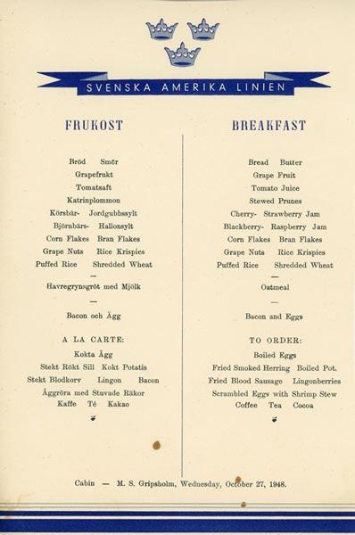 Meny frukost 481027