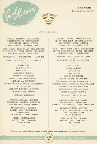 Meny frukost 570906