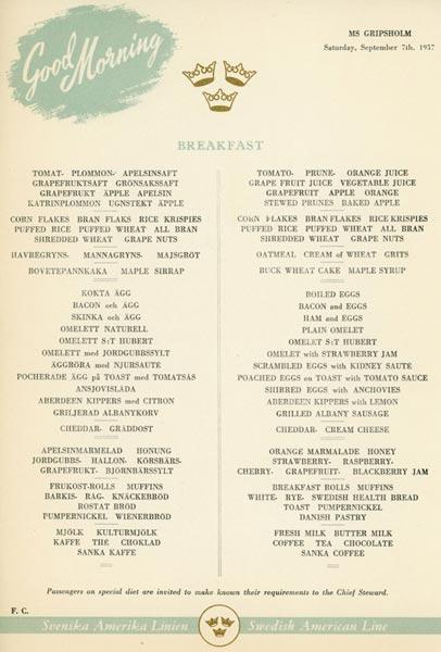 Meny frukost 570907