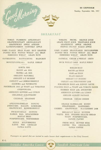 Meny frukost 570908
