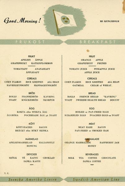 Meny frukost u å 1
